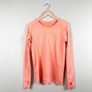 Lululemon Swifty Tech Long Sleeve Top Orange